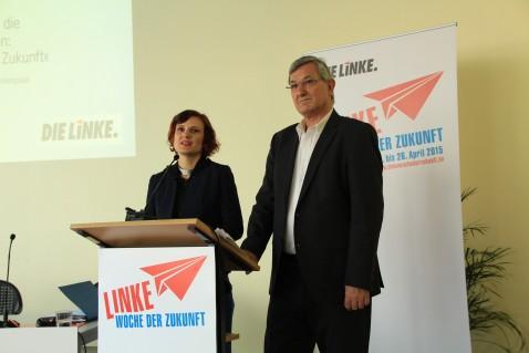Die LINKEN-Vorsitzenden Katja Kipping und Bernd Riexinger stellen ihr Zukunftsmanifest vor